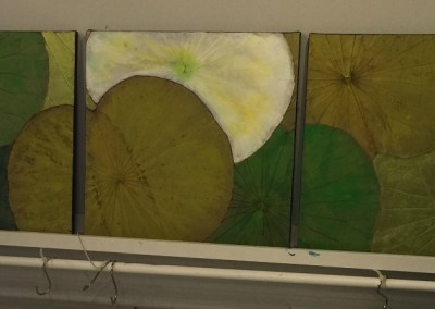 tryptic Green white yellow